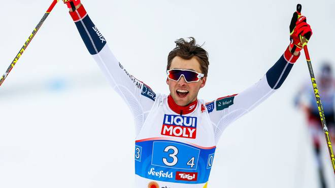 Jarl Magnus Riiber lief zum dritten Sieg in Folge