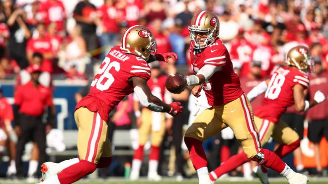 Die San Francisco 49ers feierten gegen die Los Angeles Rams den fünften Sieg im fünften Spiel