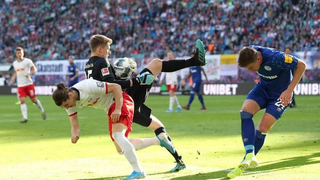 Alexander Nübel leistete sich gegen RB Leipzig einen Patzer