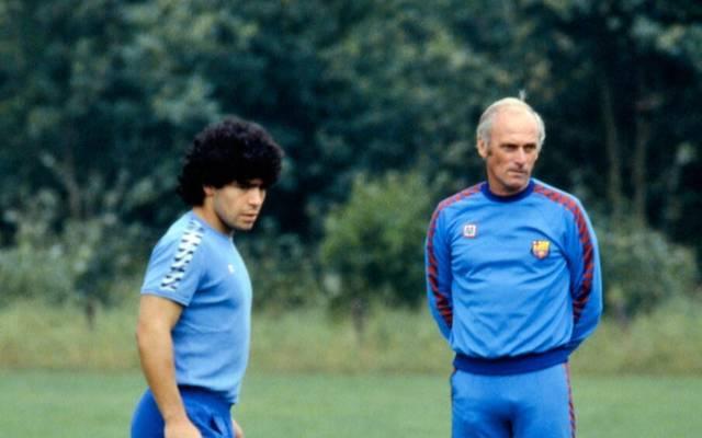 Udo Lattek war Trainer des FC Barcelona, als Diego Maradona 1982 dort ankam