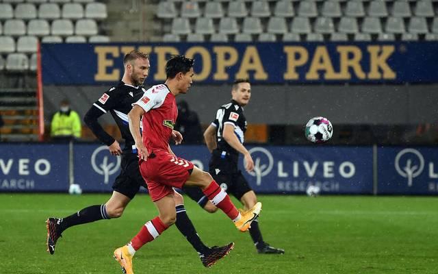 Woo-Yeong Jeong krönte den Sieg des SC Freiburg gegen Arminia Bielefeld