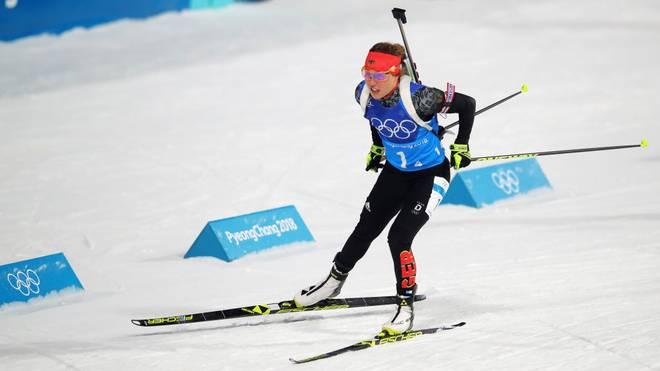Laura Dahlmeier gewann bei den olympischen Spielen in Pyeongchang zwei Mal die Goldmedaille.
