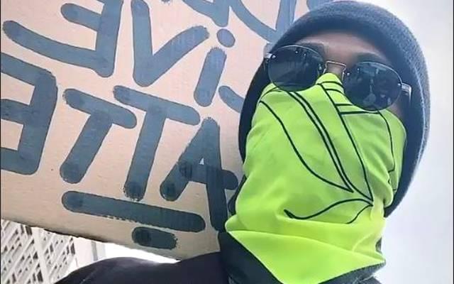 Lewis Hamilton war bei den Protesten in London dabei