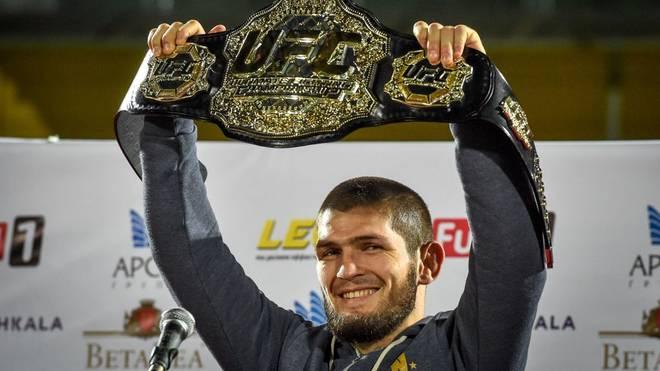 Khabib Nurmagomedov ist amtierender Leichtgewichtschampion der UFC