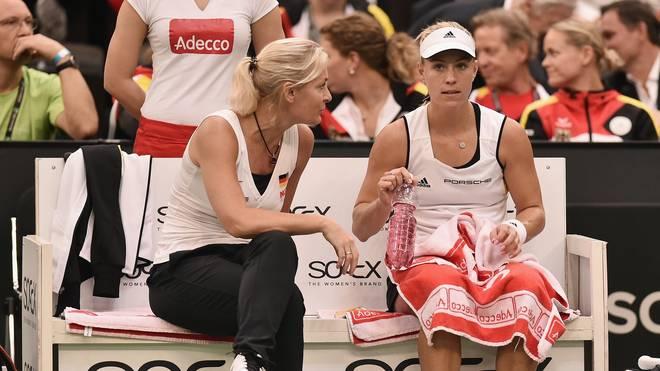 Barbara Rittner (l.) im deutschen Tennis für die Frauen zuständig, hat einen guten Draht zu Angelique Kerber