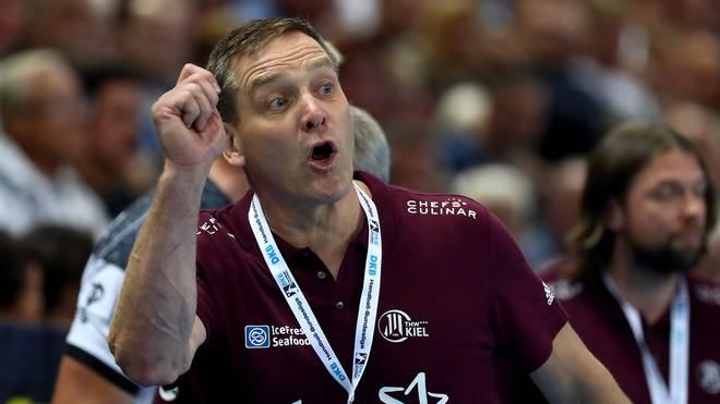 Kiel-Trainer Alfred Gislason verliert mit seinem Team weiter an Boden