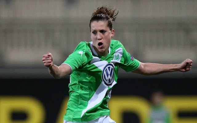Verena Faißt jubelt für den VfL Wolfsburg