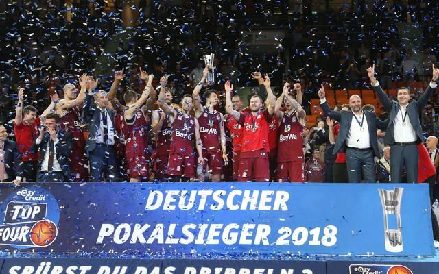 Bayern München gewann 2018 den deutschen Basketball-Pokal