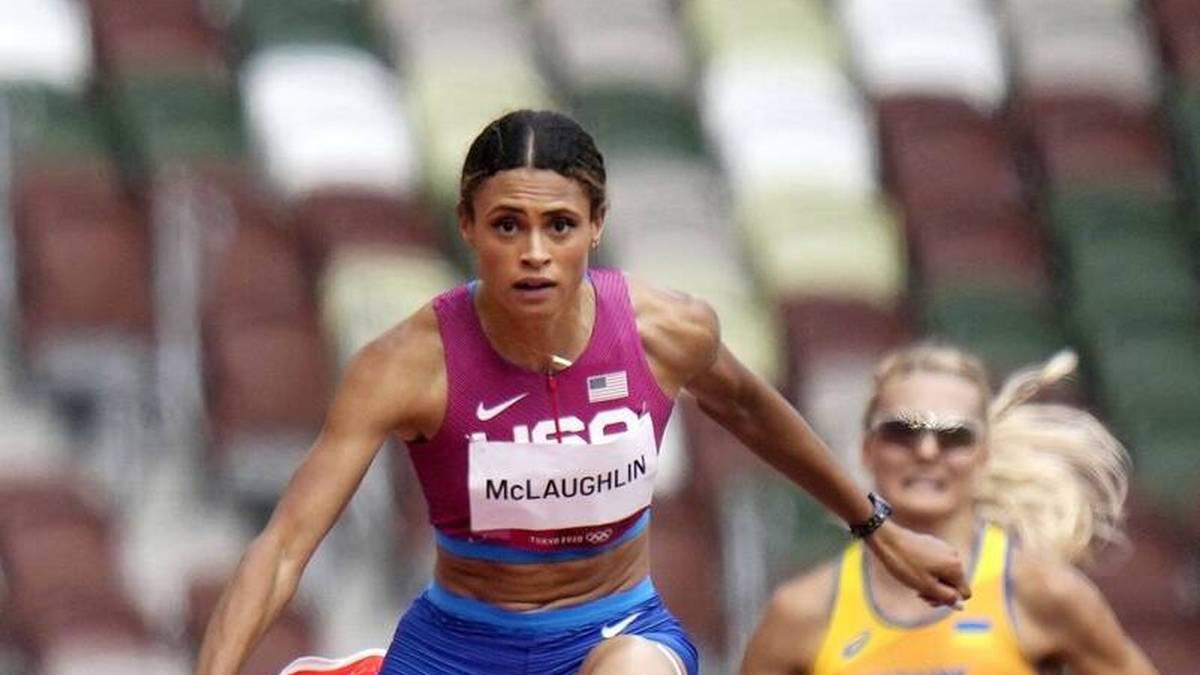 Sydney McLaughlin hat bei den Olympischen Spielen 2021 in Tokio ihren eigenen Weltrekord verbessert