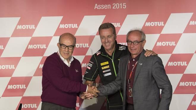 Vito Ippolito (r.) ist Verbandschef der MotoGP
