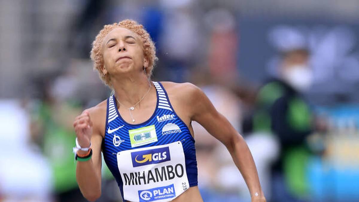 Malaika Mihambo bei der DM in Braunschweig