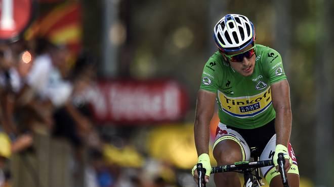 Peter Sagan wurde auf der achten Etappe von einem Motorrad gerammt