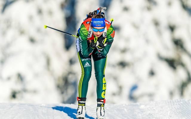 Franziska Preuss gelang in der Verfolgung von Oberhof der Sprung von Platz 45 auf Rang 6
