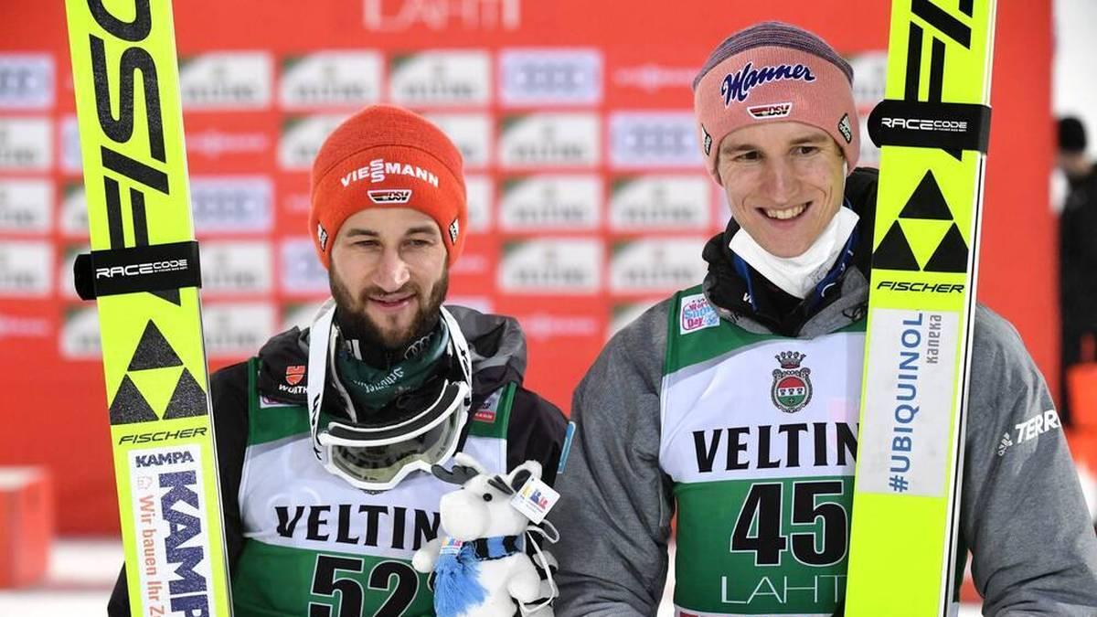 Markus Eisenbichler und Karl Geiger springen in Lahti aufs Podest