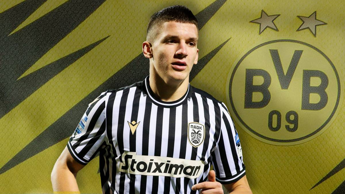 """Die Chancen auf Jadon Sanchos Abschied vom BVB stehen im kommenden Sommer hoch. Gerüchten zufolge haben die Dortmunder einen Nachfolger im Blick: das """"griechische Wunderkind""""."""
