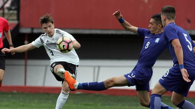 Noah Katterbach erzielte das letzte Tor für die deutsche U17