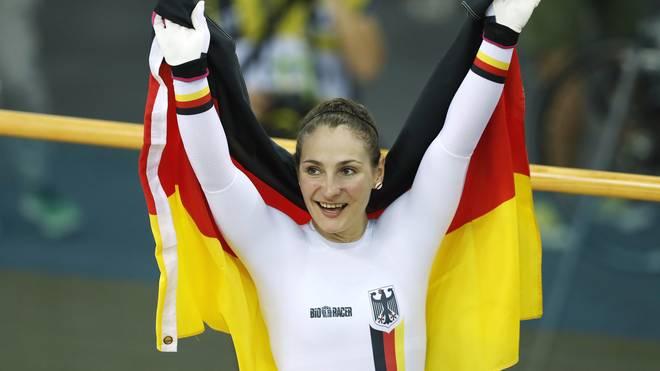 Kristina Vogel gewann bei der Bahnrad-EM drei Medaillen