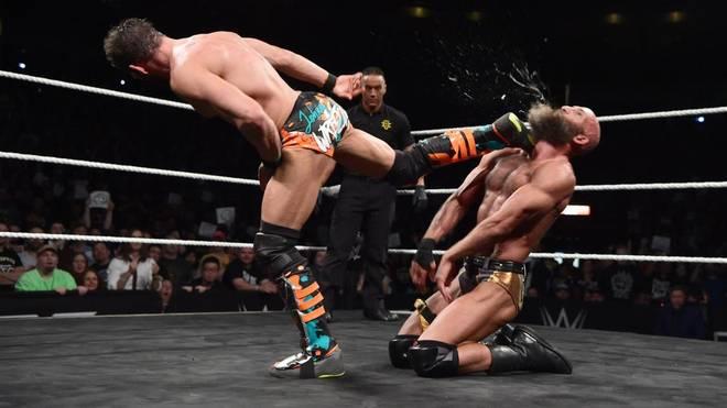 Johnny Gargano (l.) und Tommasso Ciampa lieferten sich bei WWE eine Mega-Fehde
