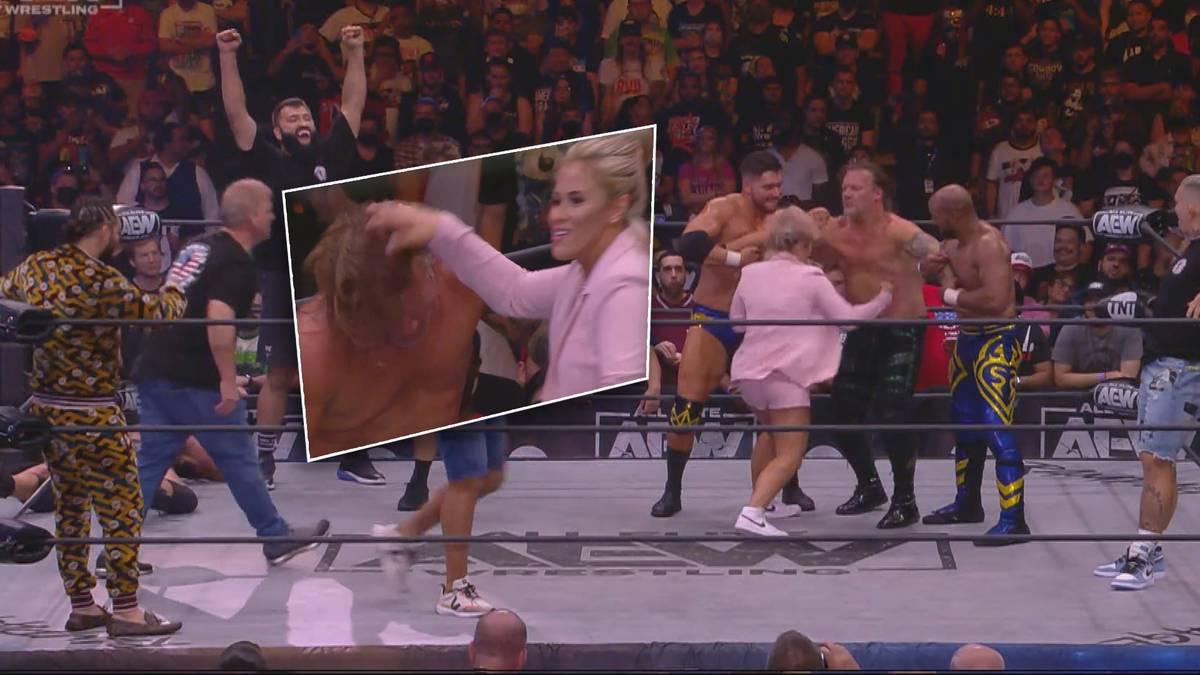 WWE-Rivale AEW liefert bei Rampage: Grand Slam eine spektakuläre Zugabe aus New York - in der auch mehrere UFC-Stars und Paige VanZant handgreiflich werden.