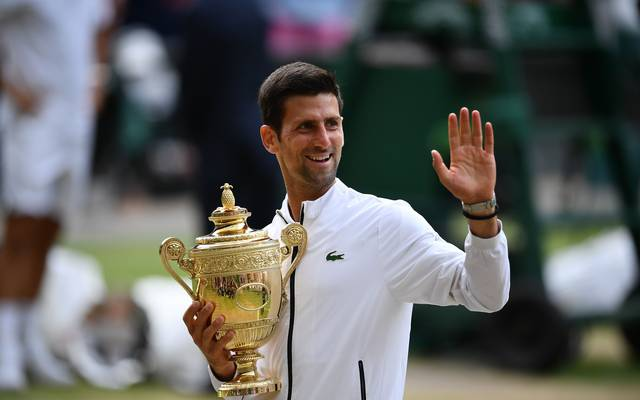 Novak Djokovic gewann das Finale von Wimbledon gegen Roger Federer