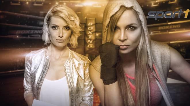 Regina Halmich und Sarah Valentina sind im Box-Team von SPORT1.