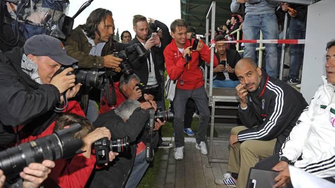 Pep Guardiola trat 2013 mit dem FC Bayern bei einem Testspiel in Weiden an