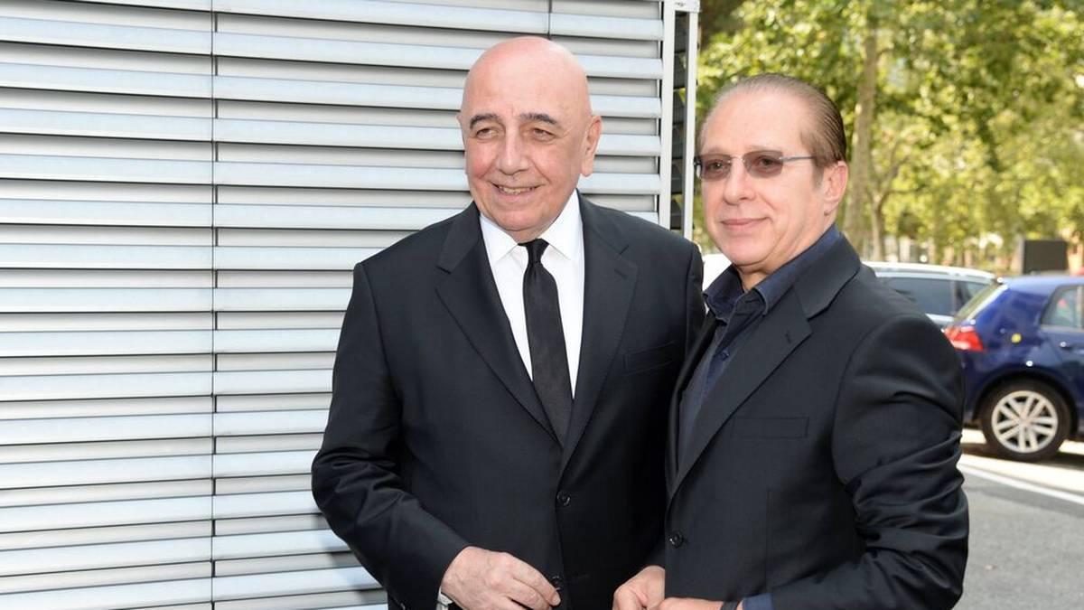 Adriano Galliani (l.) und Silvio Berlusconi im August 2019