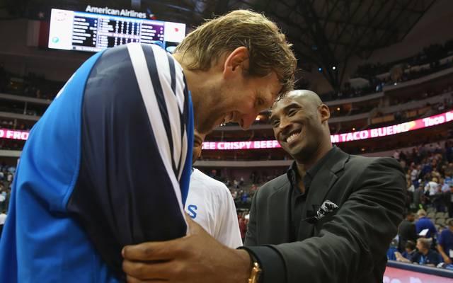 Dirk Nowitzki hält vor Kobe Bryant den NBA-Rekord für die meisten Spielzeiten bei einer einzigen Franchise
