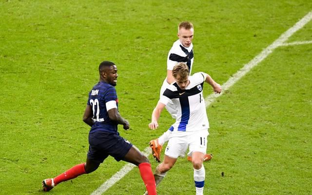 Marcus Thuram (l.) gab sein Debüt für Frankreich