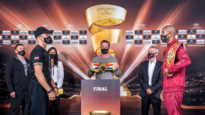 Mairis Briedis (l.) will in München auch Yuniel Dorticos' WM-Titel