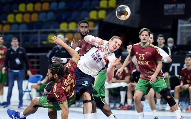 Sander Sagosen hatte gegen Norwegen mächtig zu kämpfen