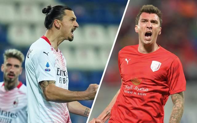 Zlatan Ibrahimovic und Mario Mandzukic werden schon bald im selben Team stehen