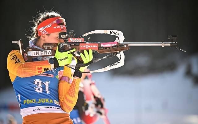 Denise Herrmann hofft bei der Biathlon-WM im Sprint auf eine Medaille