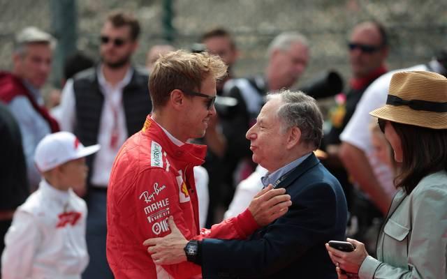 Sebastian Vettel (l.) gehört für Jean Todt zur Formel 1 dazu