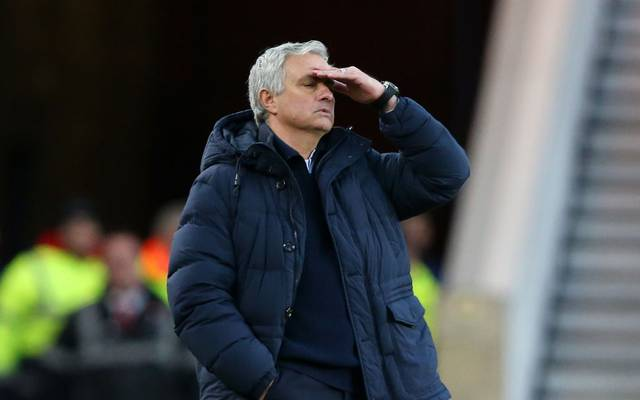 MIDDLESBROUGH, ENGLAND - JANUARY 05: Jose Mourinho, Manager of Tottenham Hotspur reacts during the FA Cup Third Round match between Middlesbrough and Tottenham Hotspur at Riverside Stadium on January 05, 2020 in Middlesbrough, England. (Photo by Alex Livesey/Getty Images)