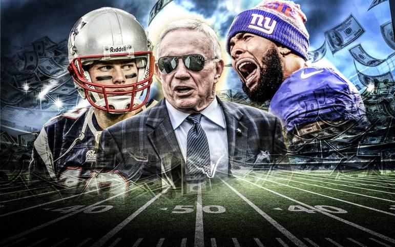 """Das Wirtschaftsmagazin """"Forbes"""" hat seine aktuellste Liste der wertvollsten Teams der NFL veröffentlicht. Dabei rechnen die Experten sowohl aktuelle und vergangene Kauf-Angebote ein sowie Einnahmen, Gewinne und den Wert des Stadions. Basis der Zahlen ist die Saison 2017."""