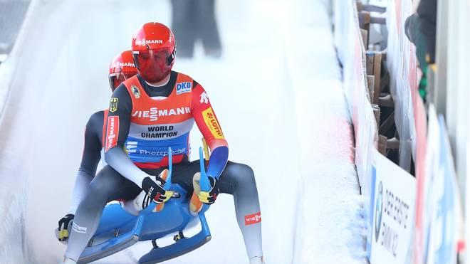 Toni Eggert und Sasche Benecken haben den Sieg in Altenberg verpasst