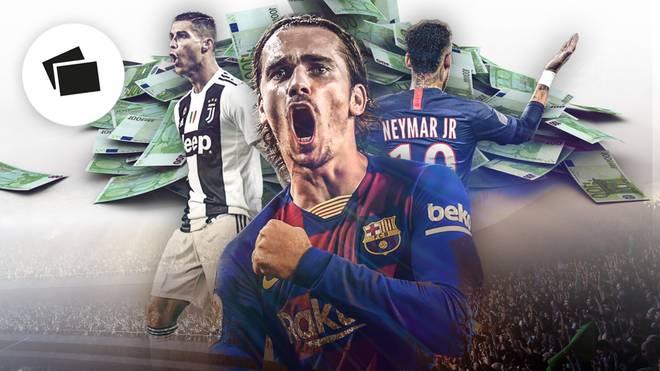 Cristiano Ronaldo, Antoine Griezmann, Neymar - die Top-Verdiener im Fußball