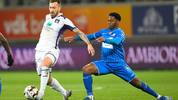 Anderlecht's Peter Zulj and Gent's Jonathan David fight for the ball during a soccer match between KAA Gent and RSC Anderlecht, Friday 07 February 2020 in Gent, on day 25 of the 'Jupiler Pro League' Belgian soccer championship season 2019-2020. BELGA PHOTO YORICK JANSENS (Photo by YORICK JANSENS/BELGA MAG/AFP via Getty Images)