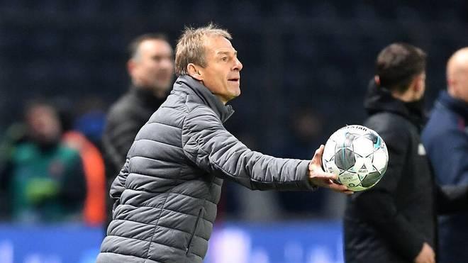 Jürgen Klinsmann war zwischen dem 27. November 2019 und dem 11. Februar 2020 Hertha-Trainer