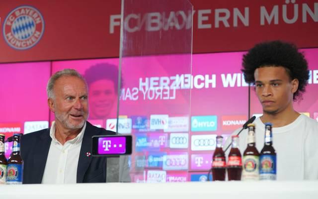 Karl-Heinz Rummenigge präsentiert Neuzugang Leroy Sané