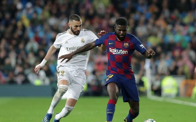 Samuel Umtiti (r.) hat sich bereits im zweiten Barca-Training verletzt