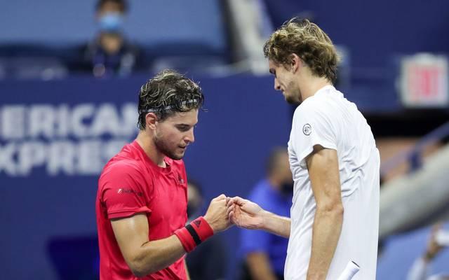 Alexander Zverev (r.) und Dominic Thiem lieferten sich ein episches Finale bei den US Open