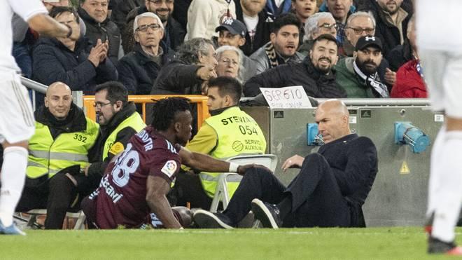 Joseph Aidoo brachte Real-Coach Zinedine Zidane von den Beinen