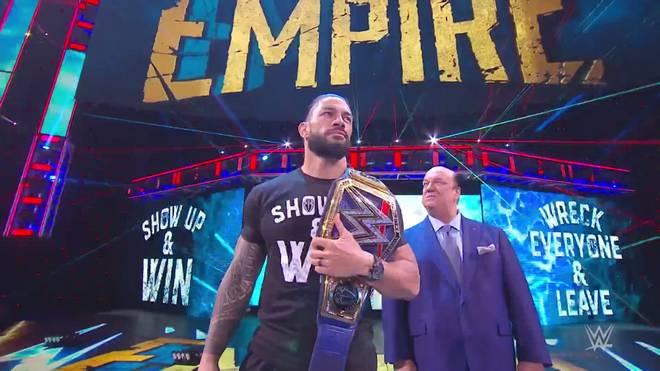 Universal Champion Roman Reigns und WWE Champion Drew McIntyre trafen ein letztes Mal vor ihrem Match bei WWE Survivor Series aufeinander