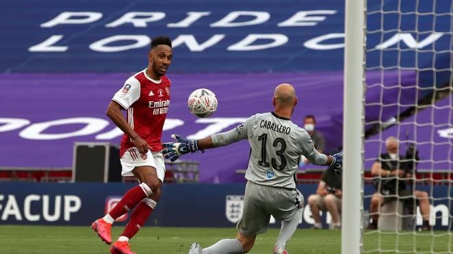 Pierre-Emerick Aubameyang vom FC Arsenal traf im FA-Cup-Finale doppelt gegen Chelsea