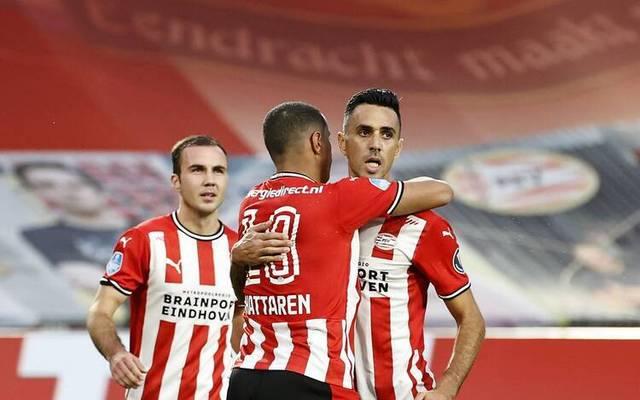 Mario Götze feierte mit der PSV Eindhoven einen klaren Sieg über Den Haag