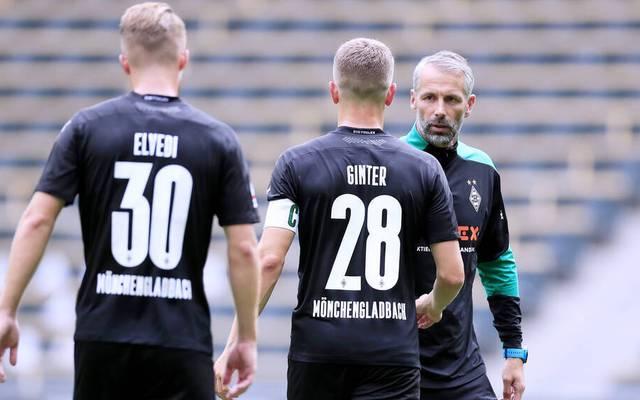 Borussia Mönchengladbach um Coach Marco Rose beginnt beim VfL Wolfsburg wieder mir Matthias Ginter und Elvedi