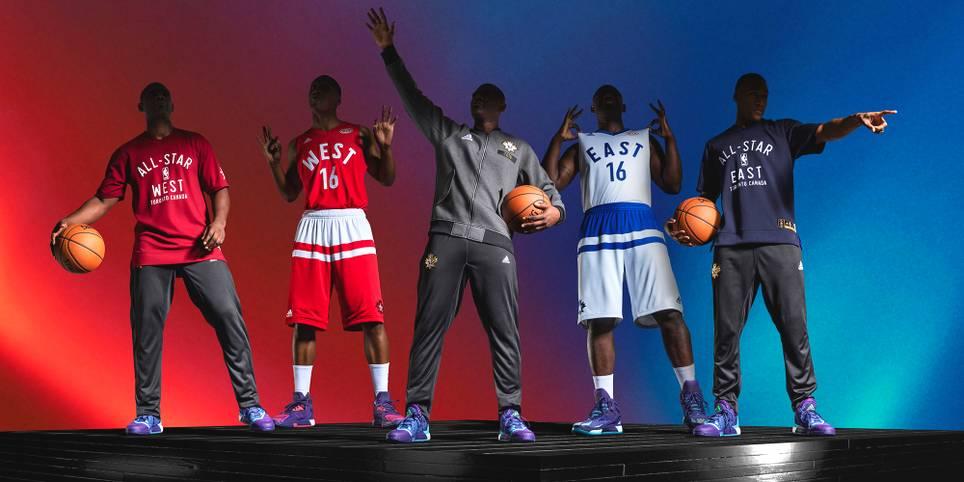 Am 14. Februar 2016 findet Historisches statt: Erstmals findet ein NBA All-Star Game nicht in den USA statt. Im Air Canada Centre zu Toronto steigt das Spektakel - in Kanada also. SPORT1 zeigt die Trikots für die 65. Auflage