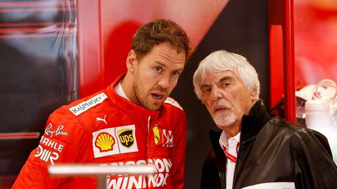 Bernie Ecclestone (r.) verhalf Sebastian Vettel (l.) zum Deal mit Aston Martin